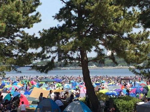 海の公園潮干狩りの様子(2017年)