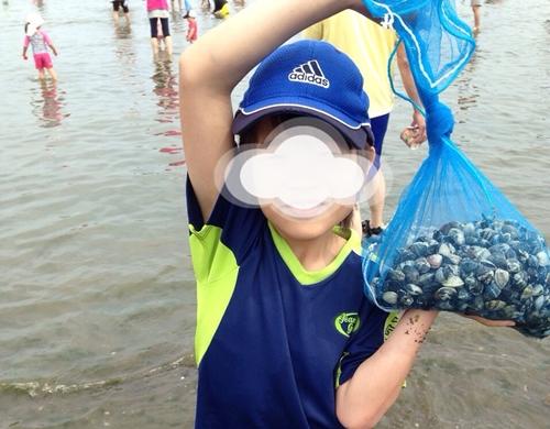 海の公園潮干狩りの様子(2014年)