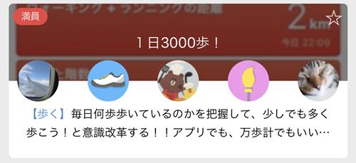1日3000歩!