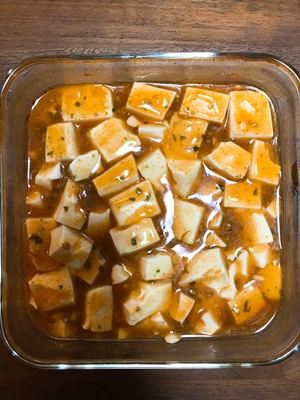 麻婆豆腐のできあがり(混ぜたあと)