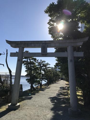 琵琶島神社の鳥居
