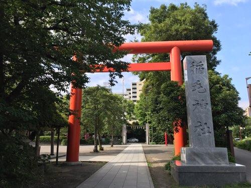 稲毛神社の鳥居
