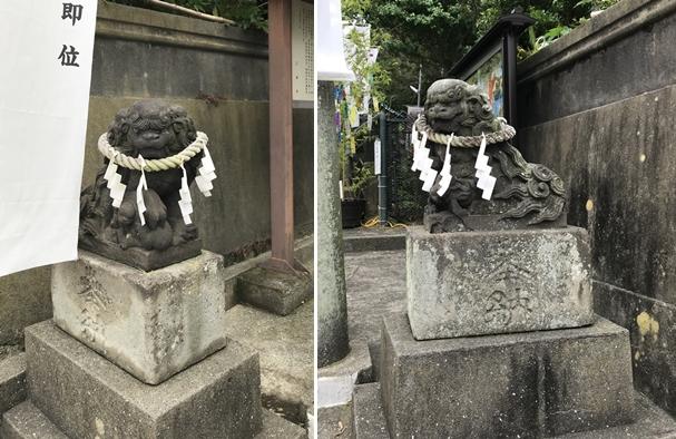 海南神社の狛犬