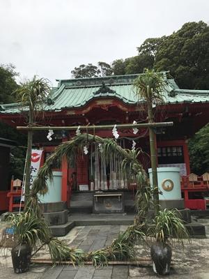 海南神社の茅の輪くぐり