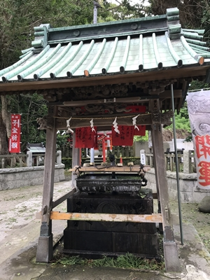 海南神社の手水舎