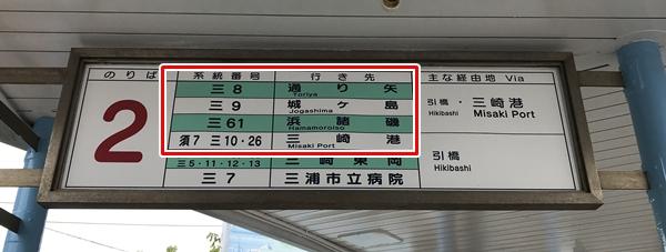 三崎口駅からバスで三崎港(みさきこう)へ向かう