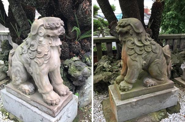 西叶神社の狛犬