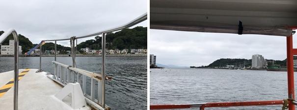 浦賀の渡し・船からの景色